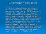 committee s charge i