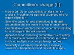 committee s charge ii