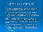 committee s charge iii