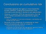 conclusions on cumulative risk