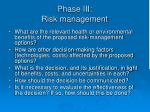 phase iii risk management