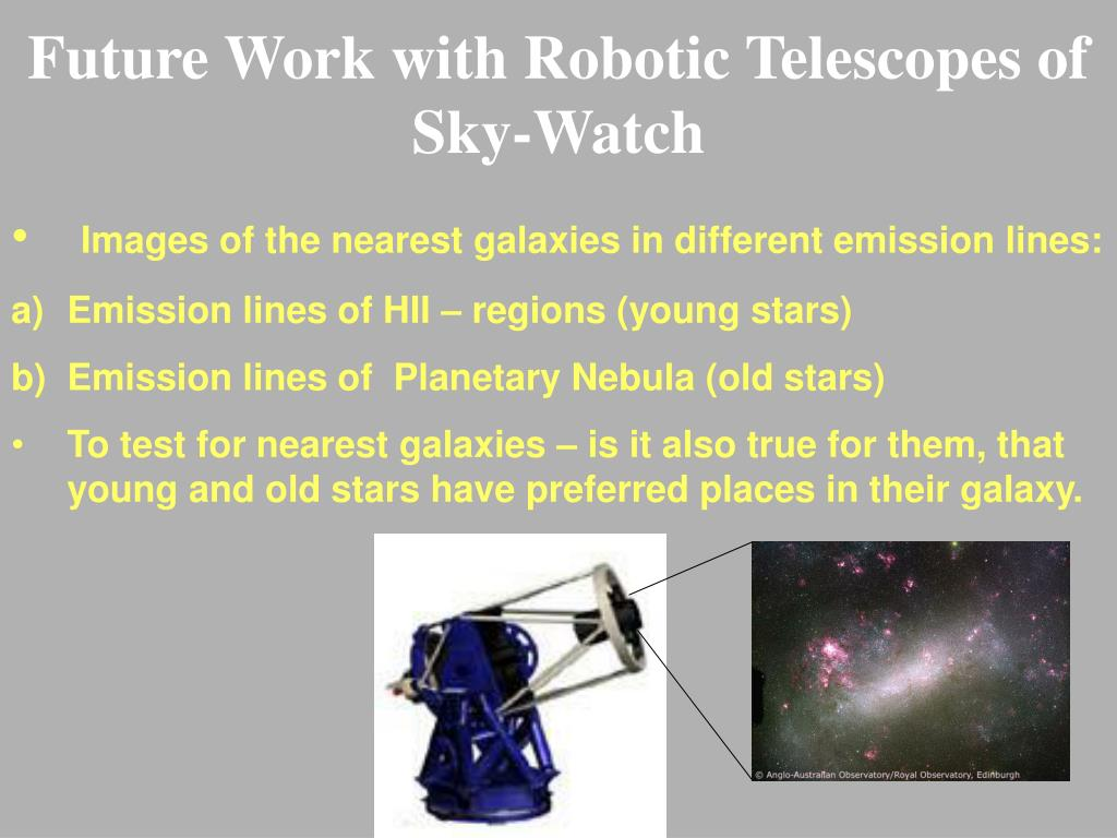 Future Work with Robotic Telescopes of Sky-Watch