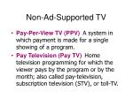 non ad supported tv