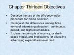 chapter thirteen objectives3