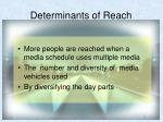 determinants of reach