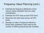 frequency value planning cont