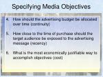 specifying media objectives13