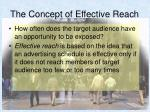 the concept of effective reach