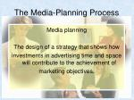 the media planning process