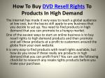 how to buy dvd resell rights to products in high demand2