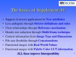 the basics of supplement 49
