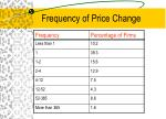 frequency of price change