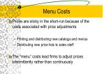 menu costs