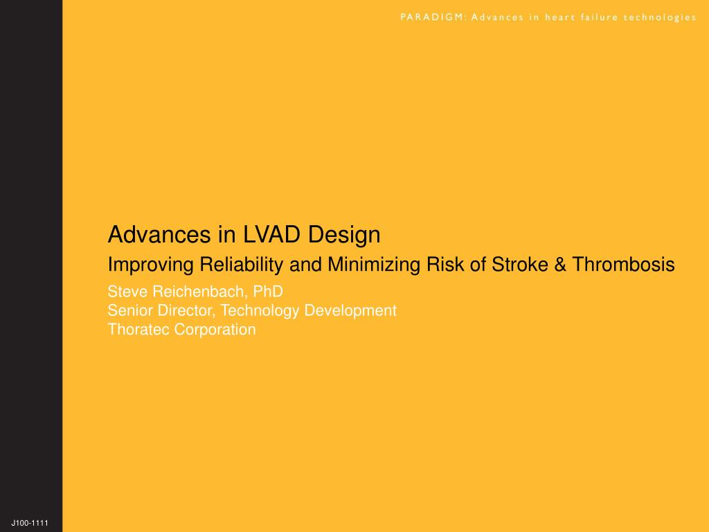 advances in lvad design l.