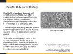 benefits of textured surfaces