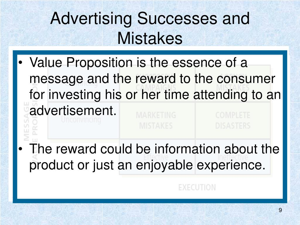 Advertising Successes and Mistakes