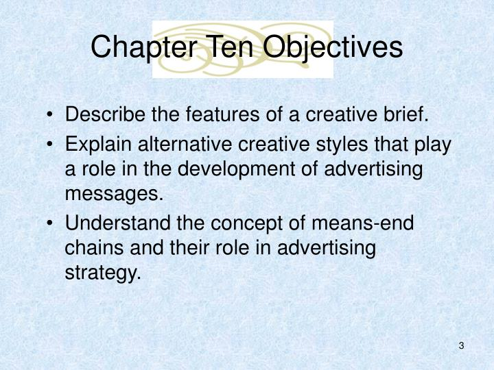 Chapter ten objectives3