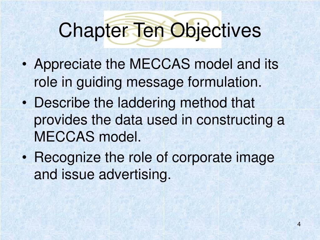 Chapter Ten Objectives