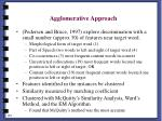 agglomerative approach