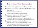 first vs second order representations