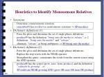 heuristics to identify monosemous relatives