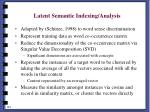 latent semantic indexing analysis