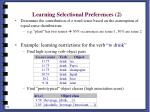learning selectional preferences 2