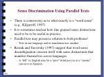 sense discrimination using parallel texts