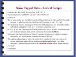 sense tagged data lexical sample