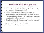the web and wsd not all good news