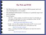 the web and wsd