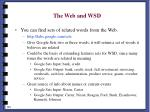 the web and wsd198