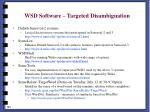 wsd software targeted disambiguation