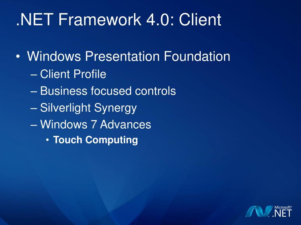 PPT   .NET Framework 20 and Visual Studio 20 PowerPoint ...