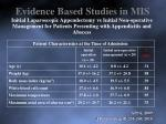 evidence based studies in mis