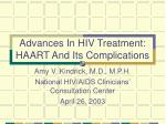 advances in hiv treatment haart and its complications