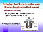 technology for characterization under simulated application environment