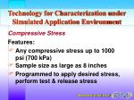 technology for characterization under simulated application environment13