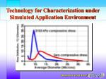 technology for characterization under simulated application environment15