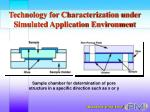 technology for characterization under simulated application environment26