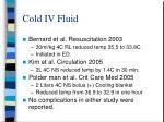 cold iv fluid