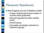 therapeutic hypothermia44