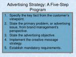 advertising strategy a five step program