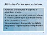 attributes consequences values