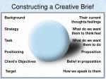 constructing a creative brief