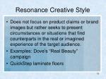 resonance creative style