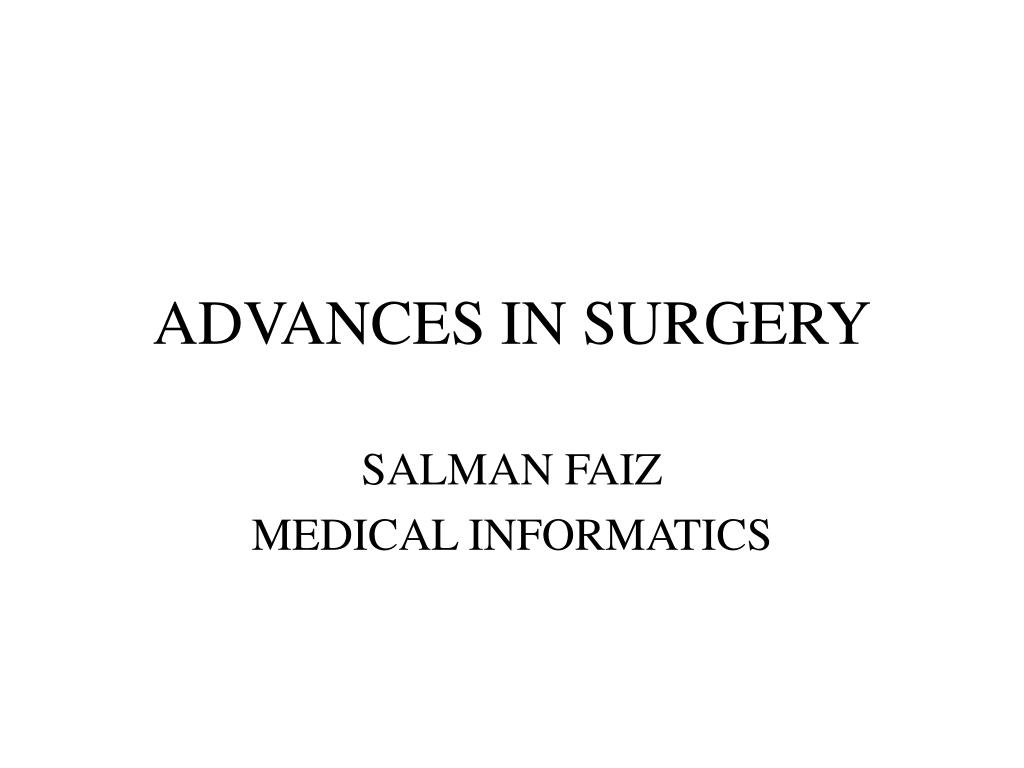 advances in surgery l.
