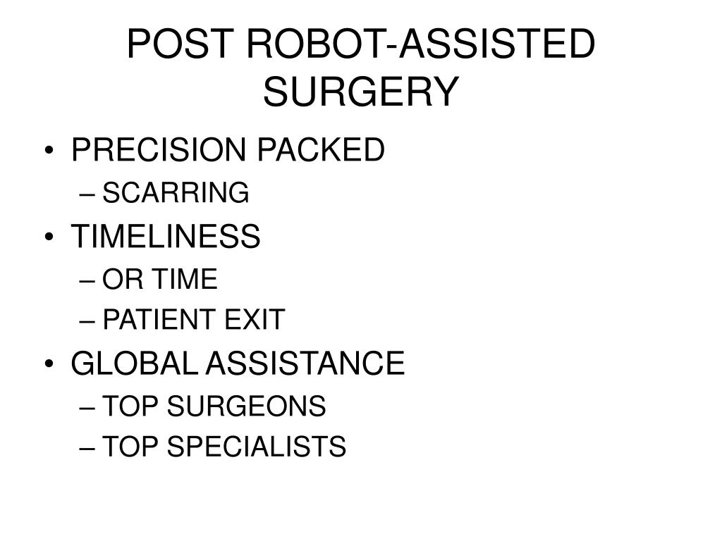 POST ROBOT-ASSISTED SURGERY