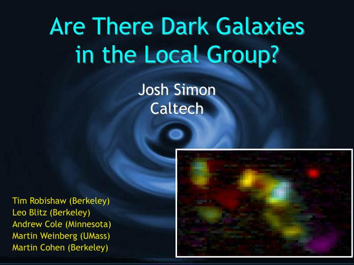 Are there dark galaxies in the local group