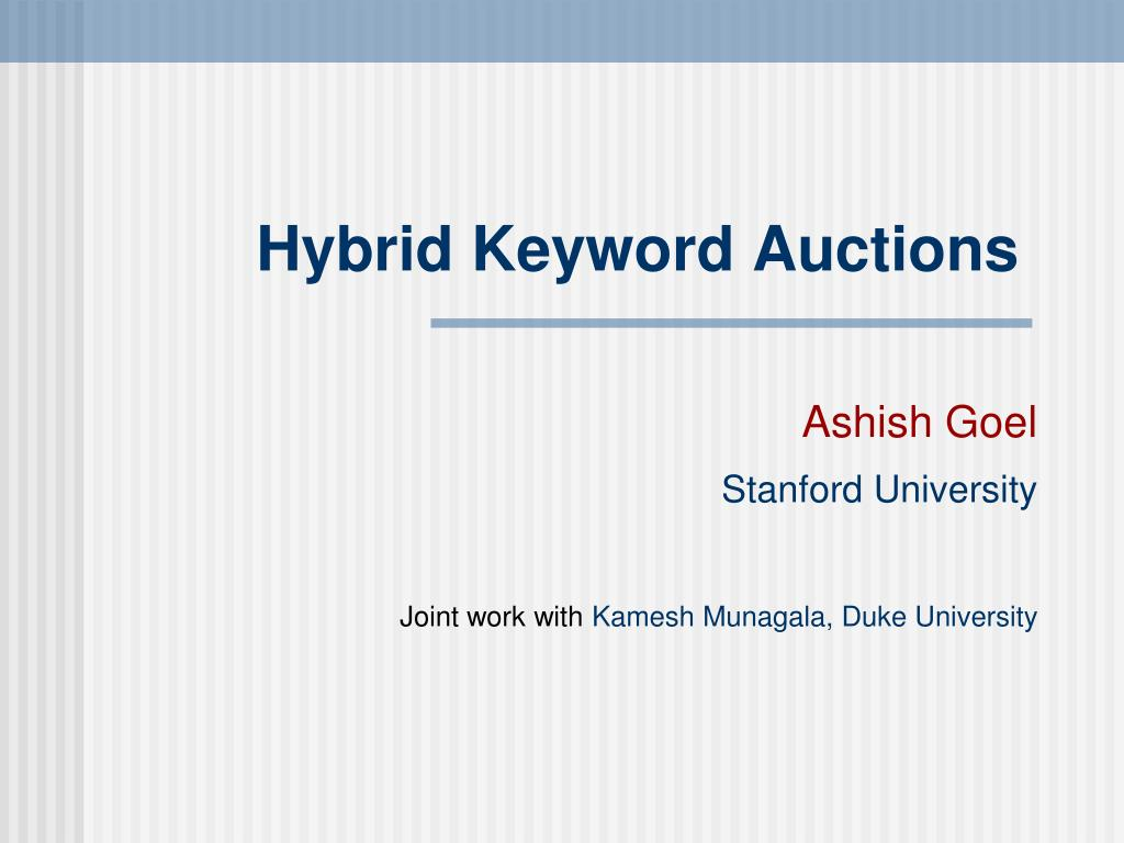 hybrid keyword auctions l.